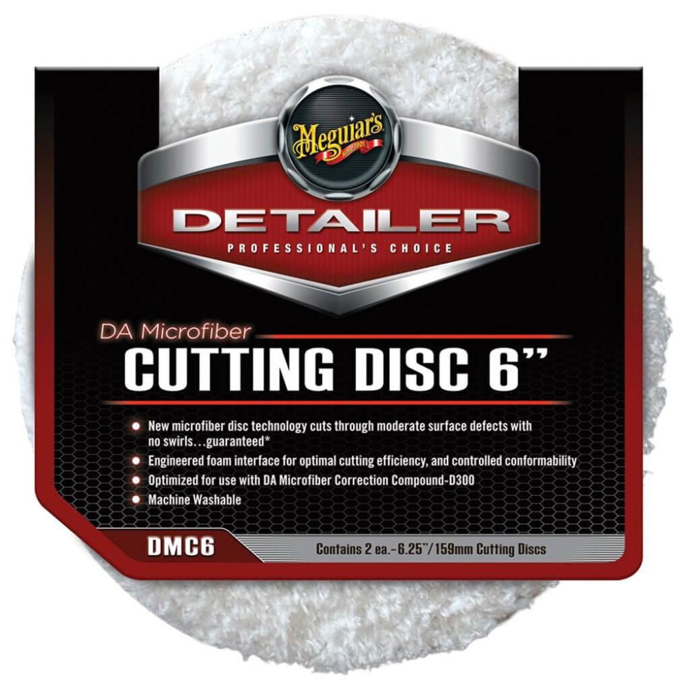 "2x Pad polish abraziv microfibra - DA Microfiber Cutting Pad 6"" Meguiar's DMC6"