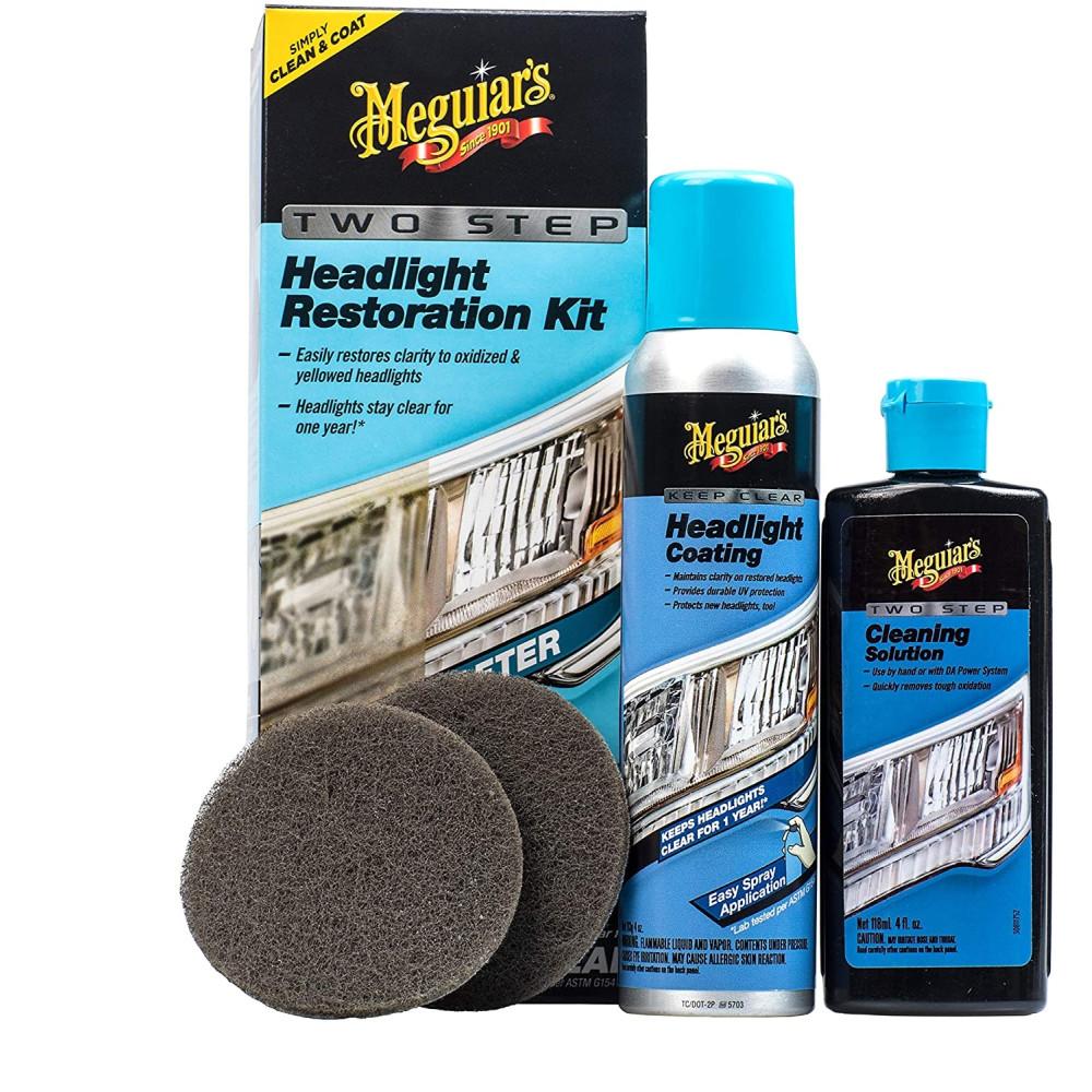 Kit polish restaurare faruri manual in 2 pasi Meguiar's Two Step Headlight Restoration Kit, G2970 Carhub