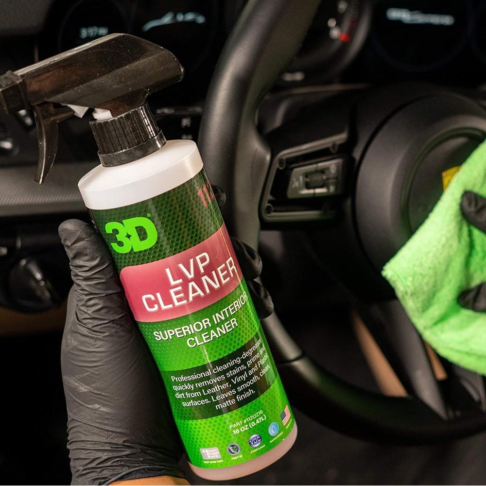 Solutie curatare piele, vinil si plastic 3D LVP Cleaner 470ml Carhub_3