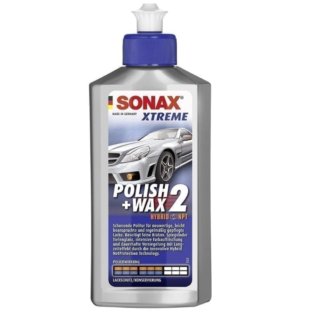 SONAX XTREME POLISH + WAX 2 HYBRID NPT - POLISH SI CEARA AUTO 500ml 207200 Carhub