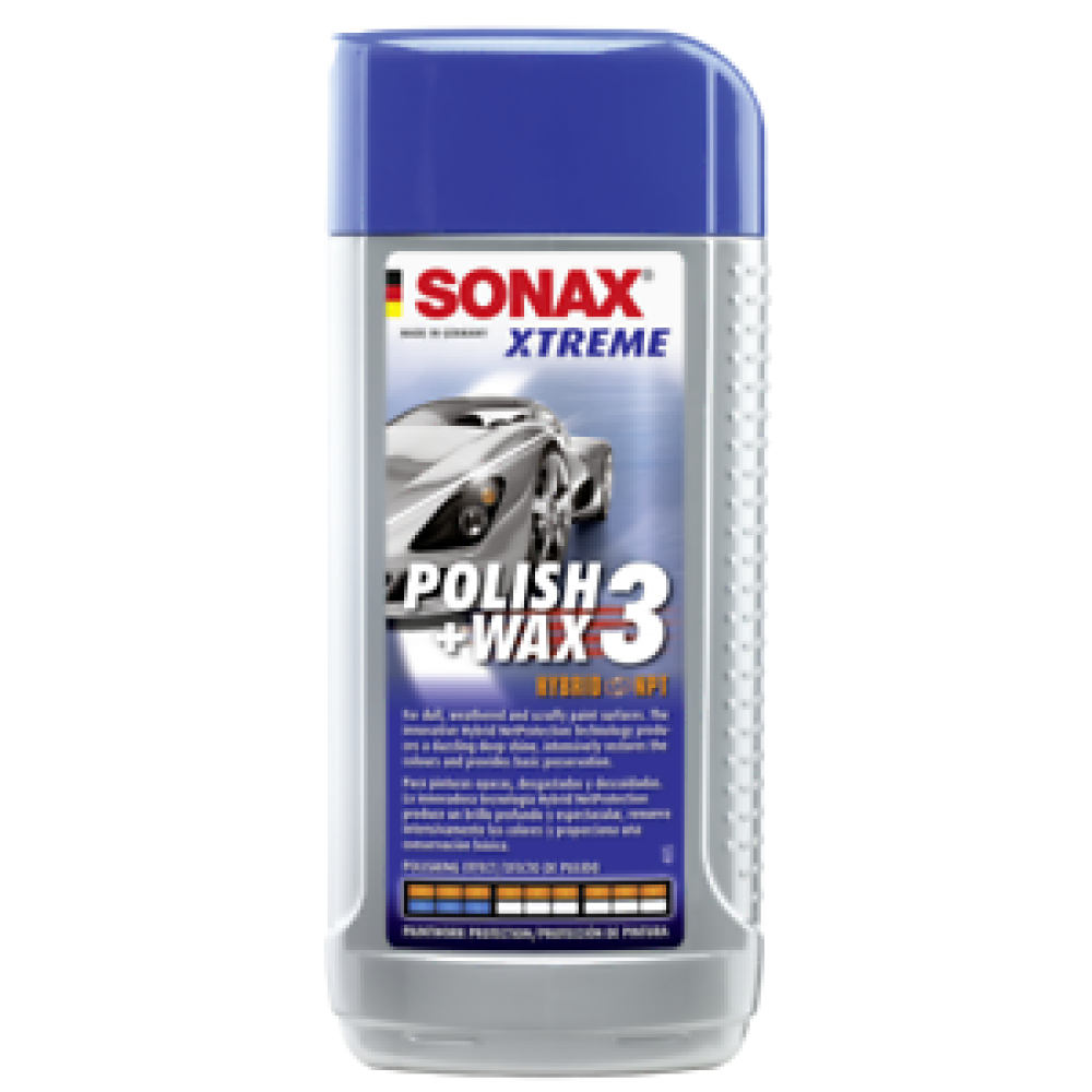 SONAX XTREME POLISH & WAX 3 HYBRID NPT - POLISH SI CEARA 250ml 202100 Carhub