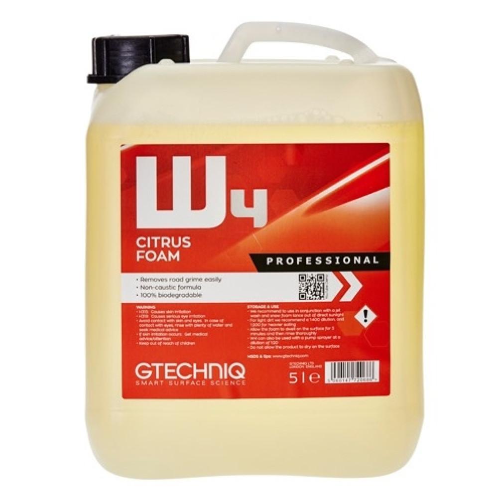 spuma prespalare, w4, gtechniq, citrus foam