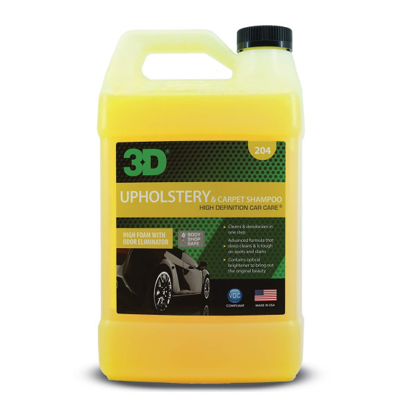 3D UPHOLSTERY & CARPET SHAMPOO, DETERGENT PENTRU TAPITERIE SI COVOARE 3.78L 204G01 Carhub