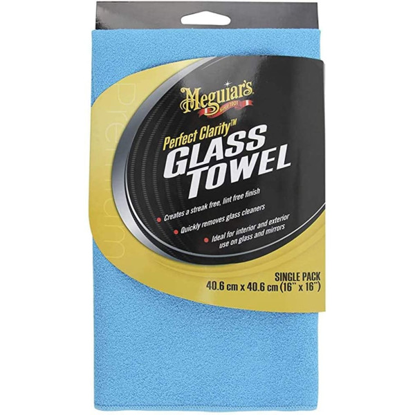 LAVETA DE STICLA MEGUIAR`S X190301EU PERFECT CLARITY GLASS TOWEL - BLUE