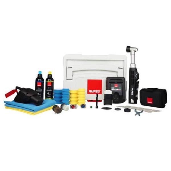 Masina de polishat cu gat lung Rupes Bigfoot Nano iBrid Kit Deluxe, valiza plastic Carhub