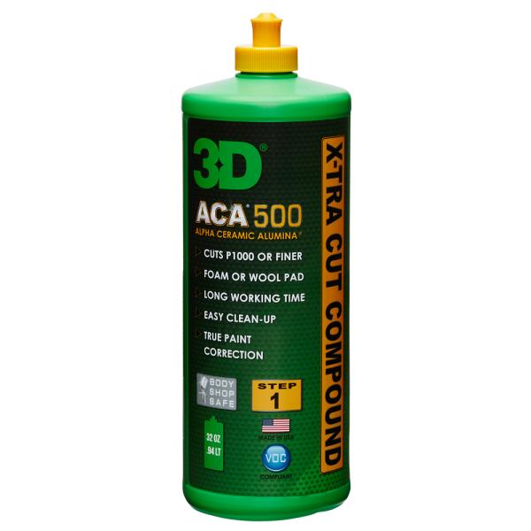 Pasta polish abraziva 3D ACA 500 X-Tra Cut Compound 946ml Carhub