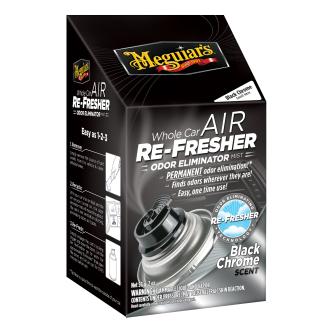 Meguiar's Whole Car Air Re-Fresher Odor Eliminator - Black Chrome Scent - G181302