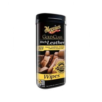 SERVETELE CURATARE SI HIDRATARE PIELE Meguiar's Gold Class Rich Leather Wipes G10900 Carhub